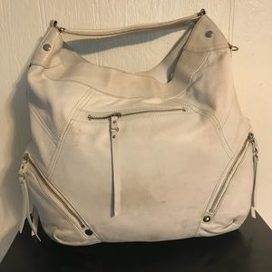 Marc New York off white leather hobo